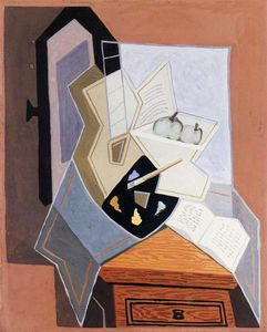 Juan Gris - Still Life at the Open Windowq