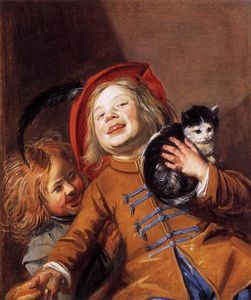 Judith Leyster - Laughing Children with a Cat