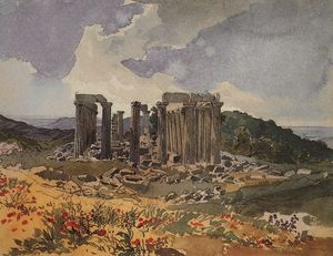 Karl Pavlovich Bryullov - Temple of Apollo in Phigalia