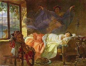 Karl Pavlovich Bryullov - A Dream of a Girl Before a Sunrise