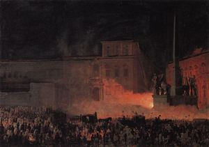 Karl Pavlovich Bryullov - Political Demonstration in Rome in 1846