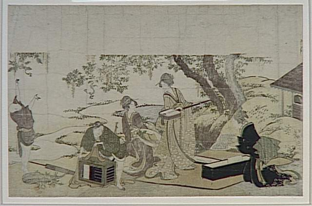 Concert under the Wisteria by Katsushika Hokusai (1760-1849, Japan)