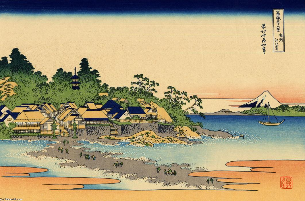Enoshima in the Sagami province by Katsushika Hokusai (1760-1849, Japan)