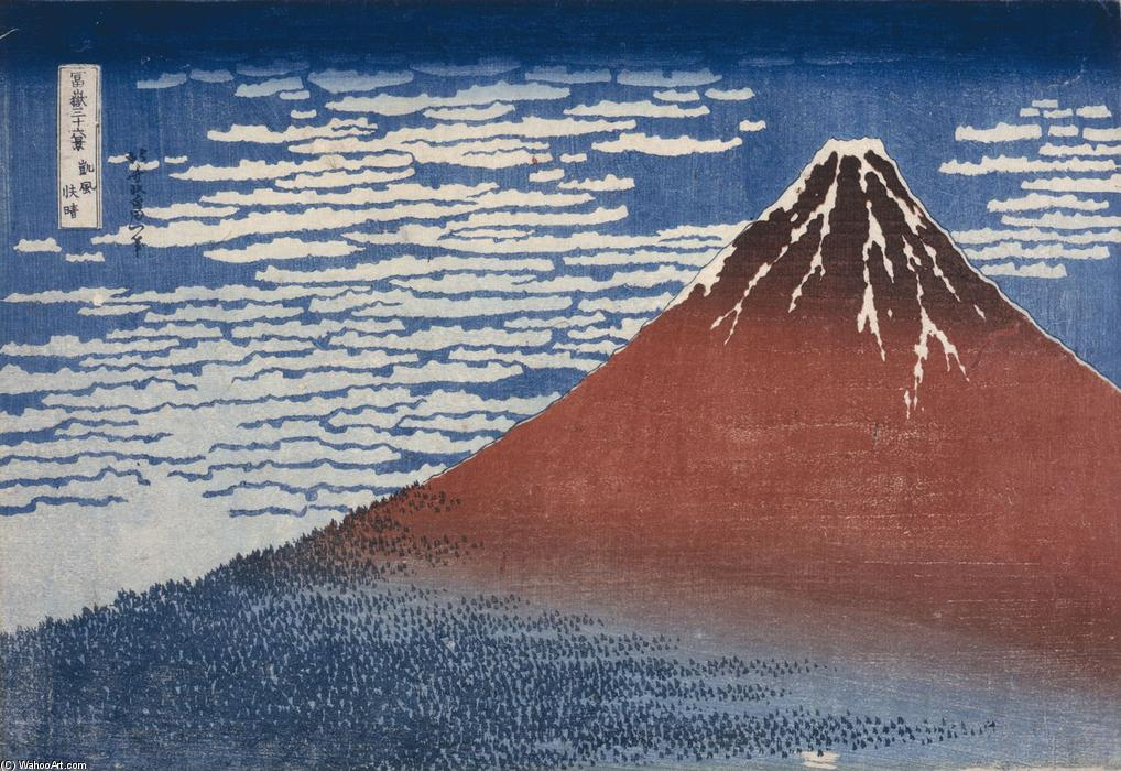 Fine Wind, Clear Morning by Katsushika Hokusai (1760-1849, Japan)