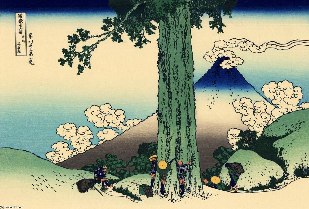 Mishima pass in Kai province by Katsushika Hokusai (1760-1849, Japan)