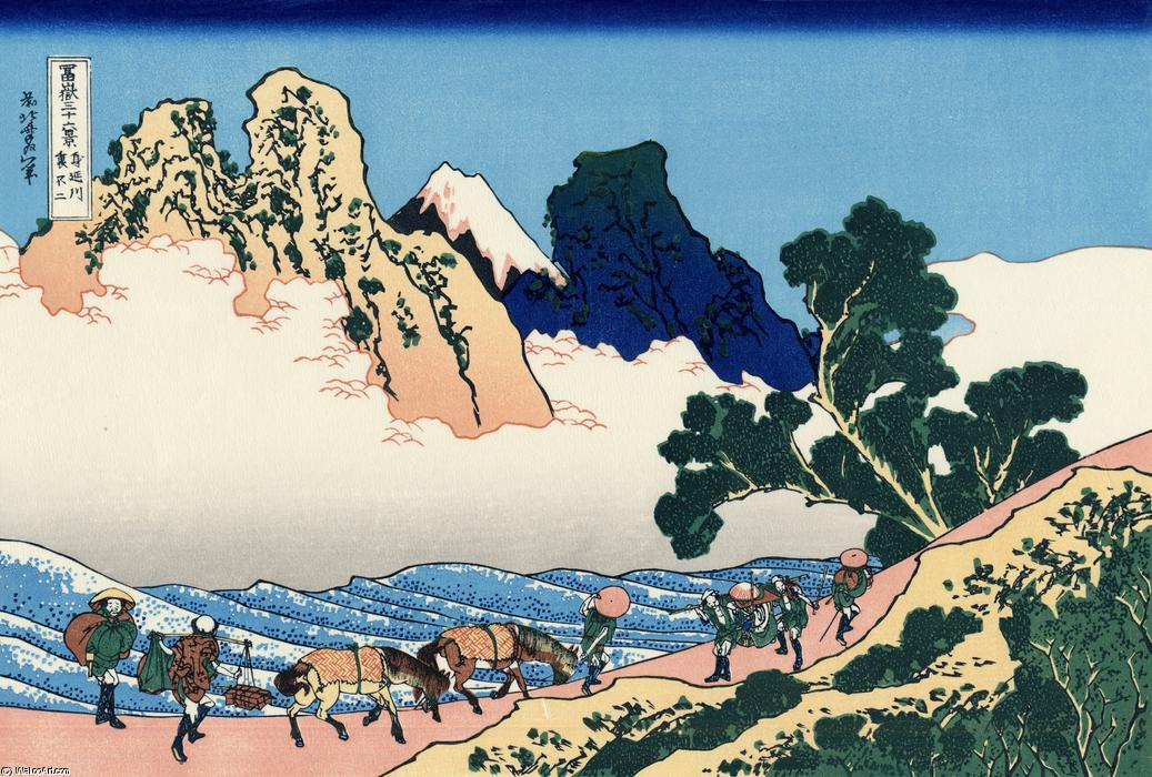 The back of the Fuji from the Minobu river by Katsushika Hokusai (1760-1849, Japan)