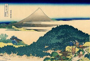 Katsushika Hokusai - The coast of seven leages in Kamakura
