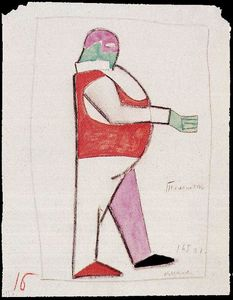 Kazimir Severinovich Malevich - Costume design for the opera ''Victory over the Sun''