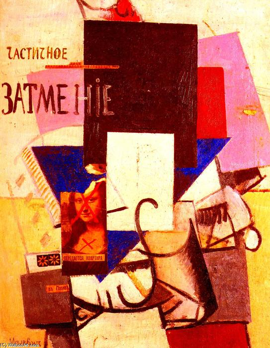 Composition with the Mona Lisa, Oil On Canvas, Relief by Kazimir Severinovich Malevich (1878-1935, Ukraine)