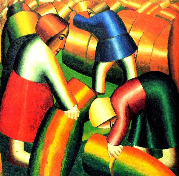 Taking in the Harvest, 1911 by Kazimir Severinovich Malevich (1878-1935, Ukraine) | Art Reproduction | WahooArt.com