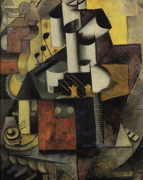 Musical instrument, 1913 by Kazimir Severinovich Malevich (1878-1935, Ukraine) | Painting Copy | WahooArt.com