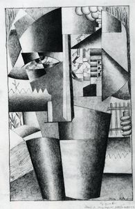 Kazimir Severinovich Malevich - Peasant Woman with Buckets