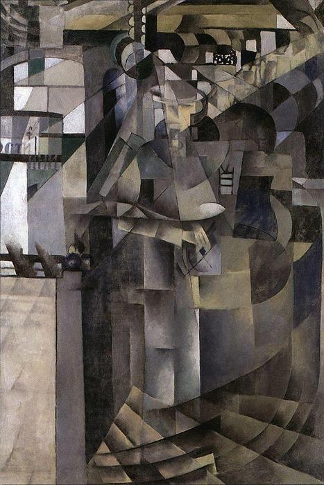 Living in a big hotel, 1914 by Kazimir Severinovich Malevich (1878-1935, Ukraine) | Museum Quality Reproductions | WahooArt.com