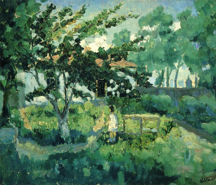 Summer Landscape by Kazimir Severinovich Malevich (1878-1935, Ukraine) | Museum Quality Reproductions | WahooArt.com