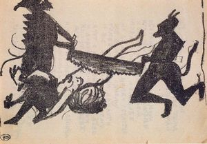 Kazimir Severinovich Malevich - Devils are sawing sinner