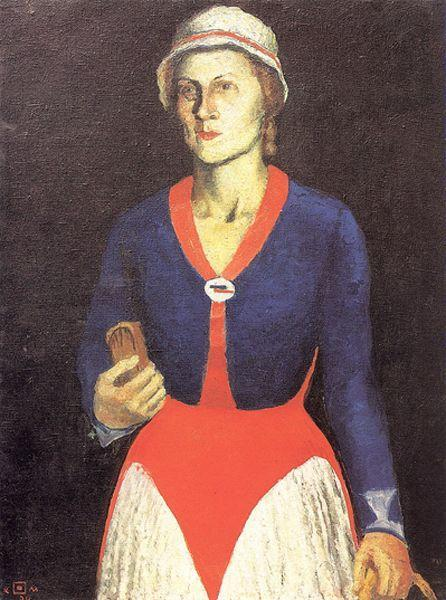 Order Museum Quality Reproductions : Portrait of the Artist`s Wife, 1934 by Kazimir Severinovich Malevich (1878-1935, Ukraine) | WahooArt.com