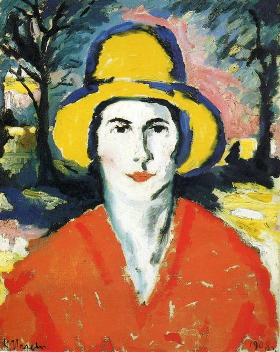 Order Reproductions | Portrait of Woman in Yellow Hat, 1930 by Kazimir Severinovich Malevich (1878-1935, Ukraine) | WahooArt.com
