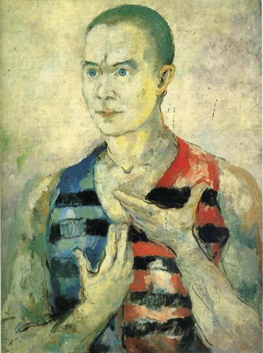 Portrait of a Youth, Oil On Canvas by Kazimir Severinovich Malevich (1878-1935, Ukraine)