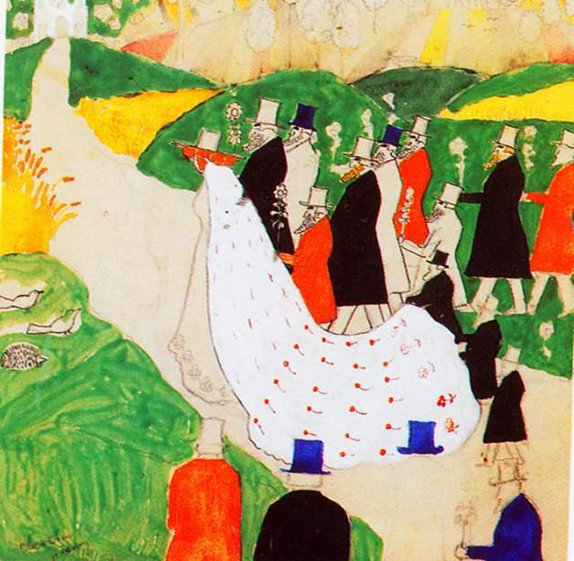 The wedding, 1907 by Kazimir Severinovich Malevich (1878-1935, Ukraine) | Oil Painting | WahooArt.com