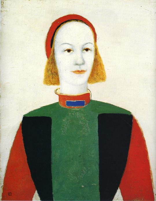 Girl, 1932 by Kazimir Severinovich Malevich (1878-1935, Ukraine) | Famous Paintings Reproductions | WahooArt.com