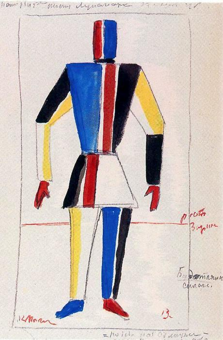 The Athlete of the Future, 1913 by Kazimir Severinovich Malevich (1878-1935, Ukraine) | Oil Painting | WahooArt.com