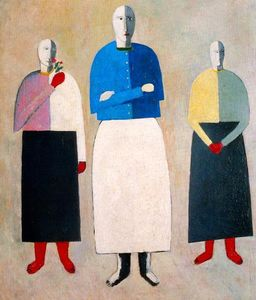 Kazimir Severinovich Malevich - Three Girls
