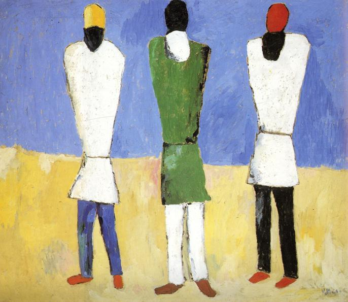 Peasants, 1932 by Kazimir Severinovich Malevich (1878-1935, Ukraine) | Art Reproduction | WahooArt.com