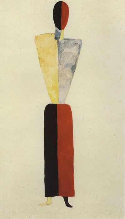 Girl Figure, Oil by Kazimir Severinovich Malevich (1878-1935, Ukraine)