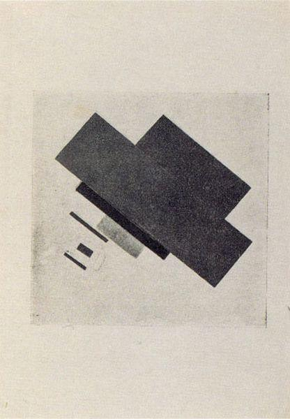 Suprematic track, 1916 by Kazimir Severinovich Malevich (1878-1935, Ukraine) | Museum Quality Reproductions | WahooArt.com