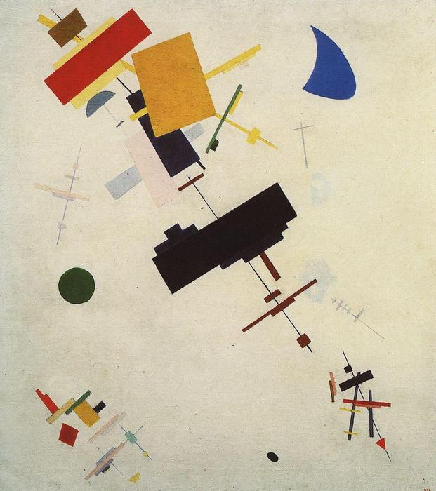 Suprematism (16), 1916 by Kazimir Severinovich Malevich (1878-1935, Ukraine) | Art Reproduction | WahooArt.com