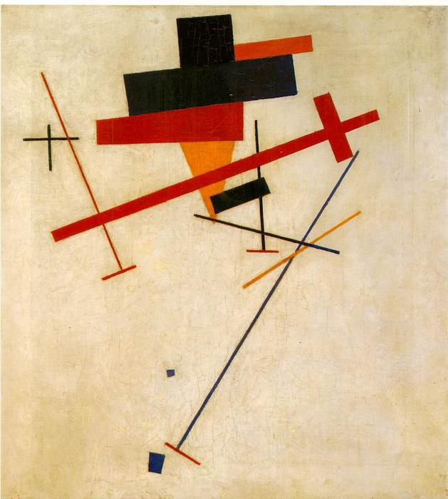 Suprematist Painting, 1916 by Kazimir Severinovich Malevich (1878-1935, Ukraine) | Famous Paintings Reproductions | WahooArt.com