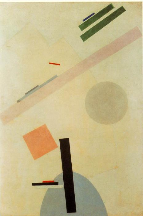 Suprematist Painting, 1917 by Kazimir Severinovich Malevich (1878-1935, Ukraine) | Painting Copy | WahooArt.com