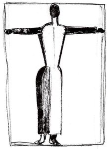 Kazimir Severinovich Malevich - Figure in the form of a cross with raised hands