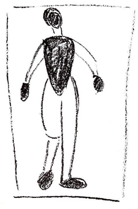Standing figure by Kazimir Severinovich Malevich (1878-1935, Ukraine) | Art Reproduction | WahooArt.com
