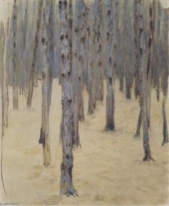 Koloman Moser - Pine forest in winter
