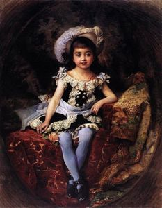 Konstantin Yegorovich Makovsky - Child Portrait
