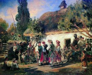 Konstantin Yegorovich Makovsky - Celebration in Ukraine