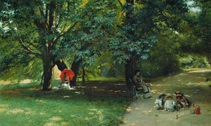 Konstantin Yegorovich Makovsky - In the Park
