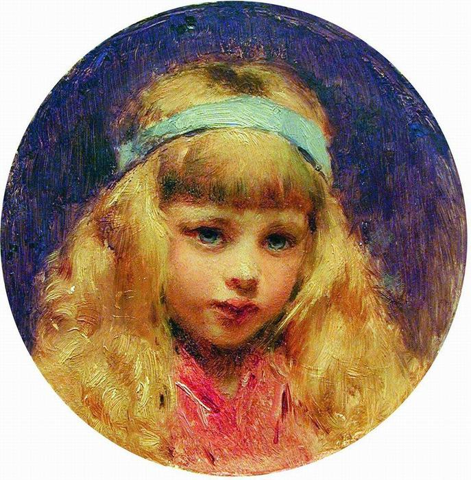"Konstantin Makovsky Portrait of the Girl with a Blue Ribbon in a Hair. "" - Konstantin-Makovsky-Portrait-of-the-Girl-with-a-Blue-Ribbon-in-a-Hair"