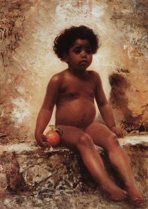 Konstantin Yegorovich Makovsky - Arab Boy with an Orange