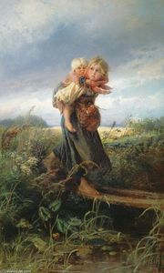 Konstantin Yegorovich Makovsky - Children running from the Storm