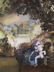 Konstantin Somov - Lady and Pierrot