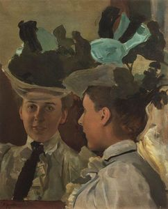 Konstantin Somov - Lady at the Mirror
