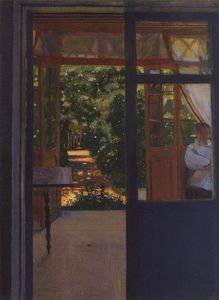 Konstantin Somov - On the Balcony