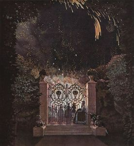 Konstantin Somov - Fireworks in the Park