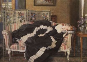 Konstantin Somov - A Sleeping Woman