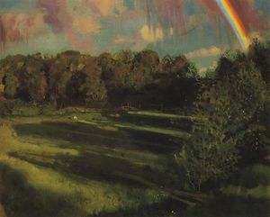 Konstantin Somov - Evening Shadows