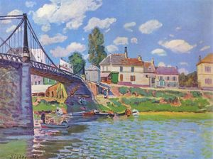 Alfred Sisley - Bridge at Villeneuve la Garenne