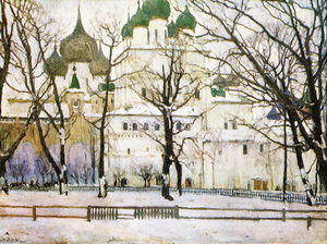 Konstantin Yuon - The cathederal in Rostov The Great