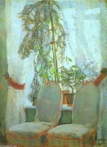Konstantin Yuon - The Window. Moscow, artist's parents appartment